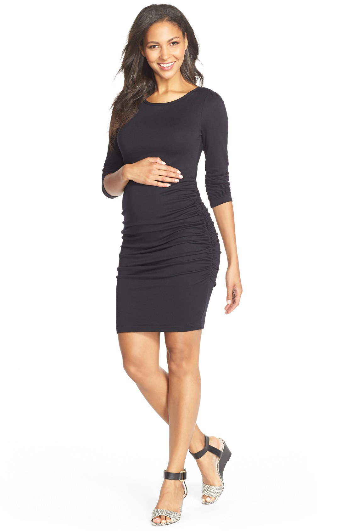 Black Maternity Dress Your Shoe Choice Of Course Is Also A Pivotal Part Outfit But Make Sure You Find Pair Shoes That Put In Ease And