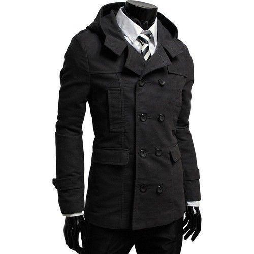 Black Trench Coat Men Classy Outfits – Carey Fashion