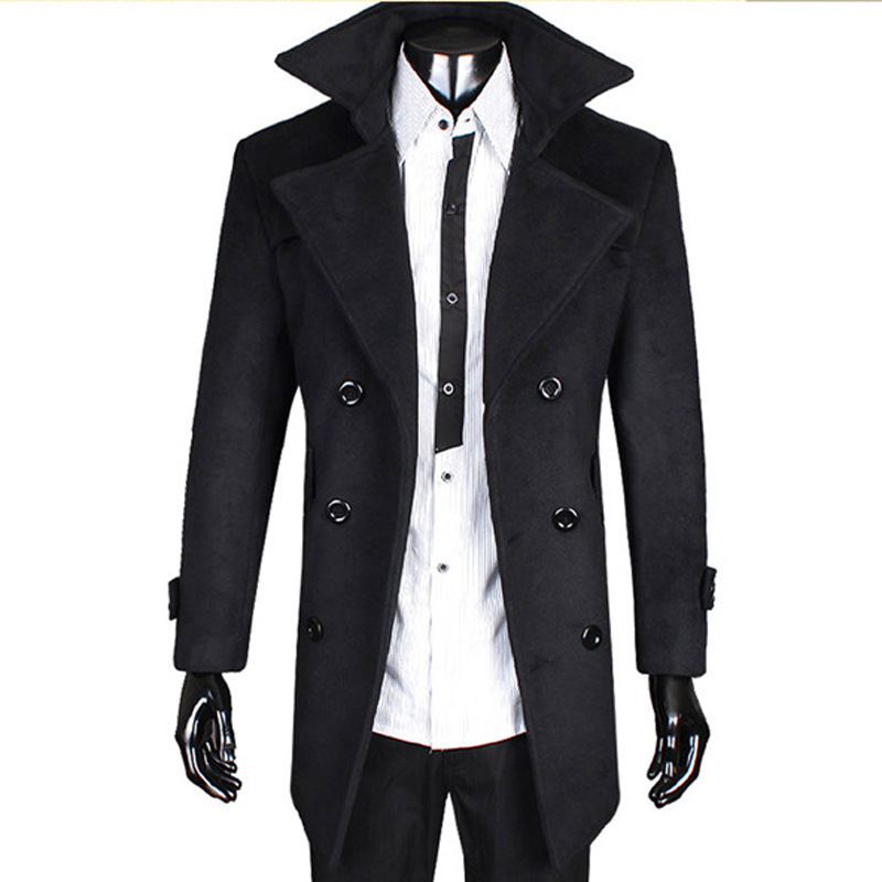 Black Trench Coat Men Classy Outfits Carey Fashion