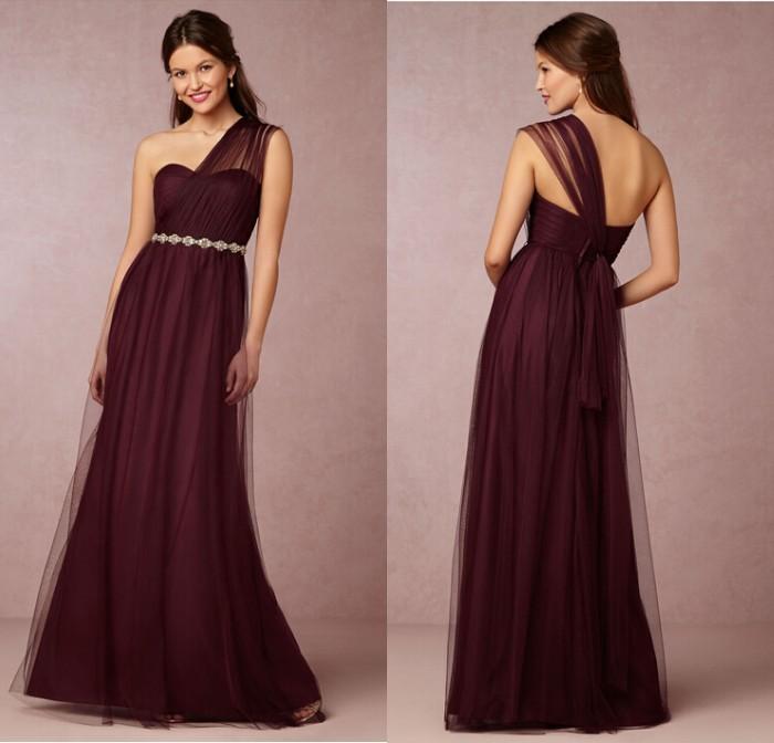 Burgandy Red Bridesmaid Dresses - Cheap Wedding Dresses