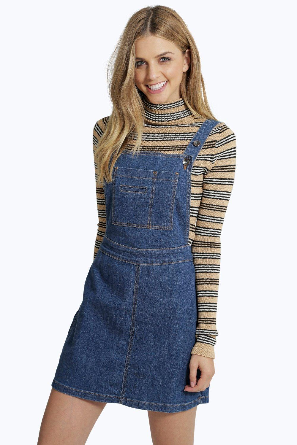 How To Wear A Denim Pinafore Dress Carey Fashion