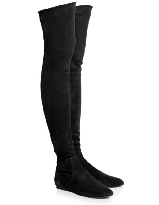 How to Wear Flat Thigh High Boots – Carey Fashion