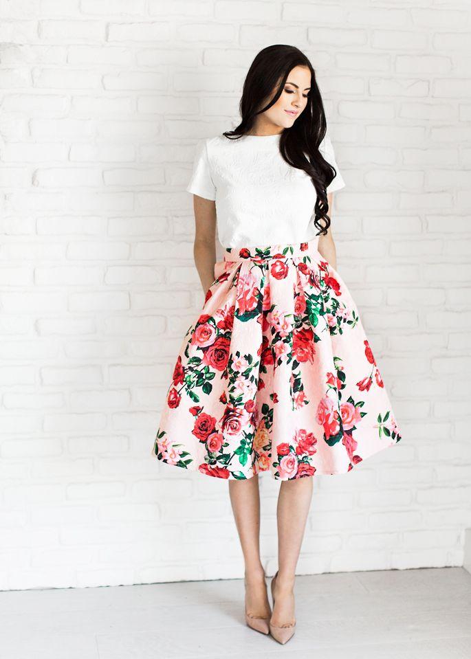 Vintage Floral Skirts Looks – Carey Fashion