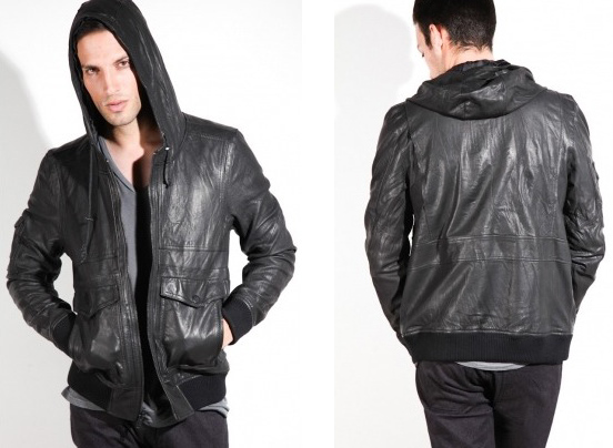 how to make a leather hoodie