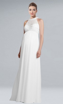 Maternity Bridesmaid Dresses: High-Fashion Comfort Ensure everyone in your bridal party is thrilled with the way they look with gorgeous maternity bridesmaid dresses from JJ's House. If you have one or multiple bridesmaids who are pregnant, these beautifully designed bridal party dresses will make them feel comfortable yet elegant at your wedding.