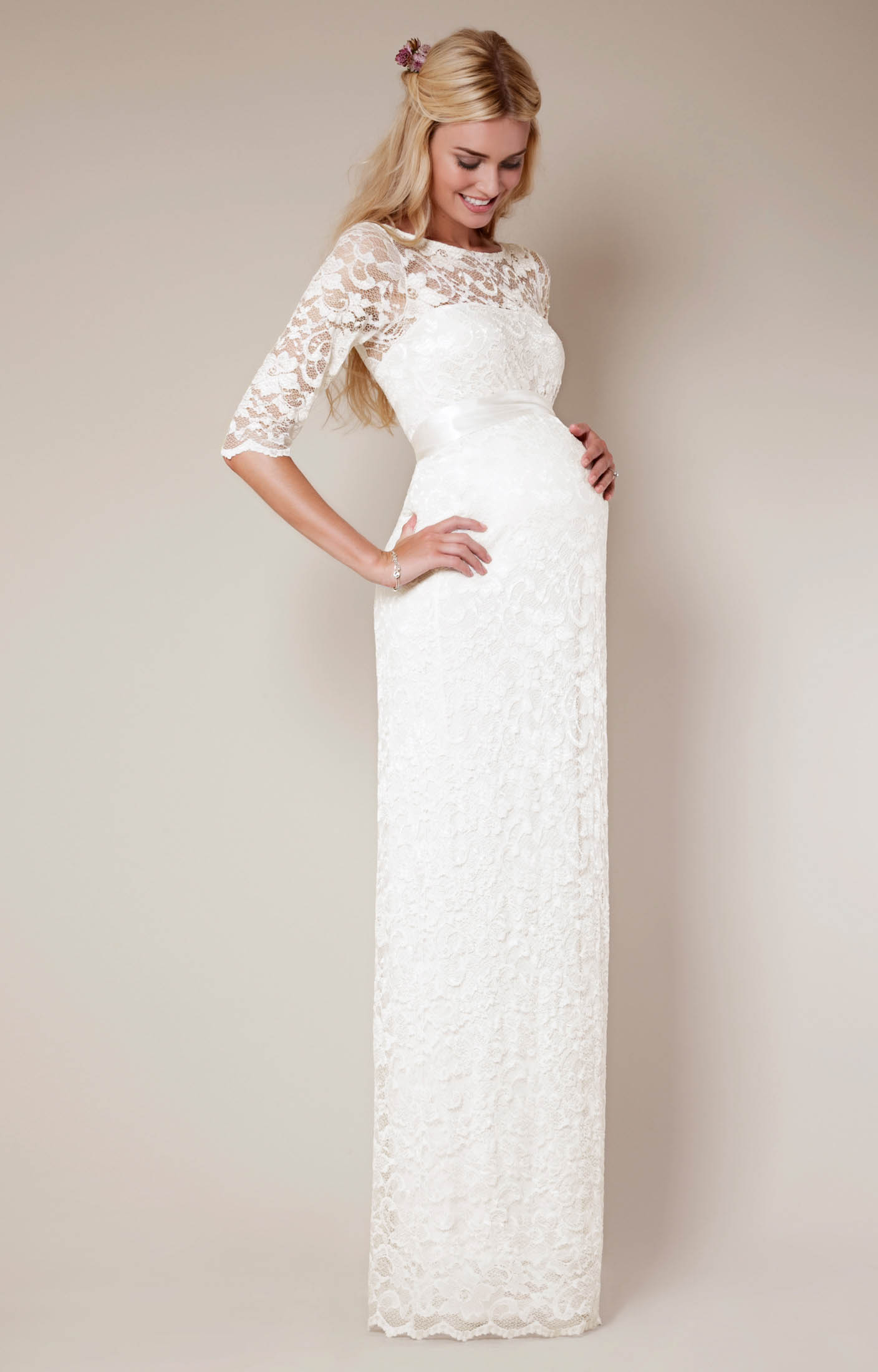 Maternity wedding dresses sophisticated and chic carey for Maternity dresses for wedding