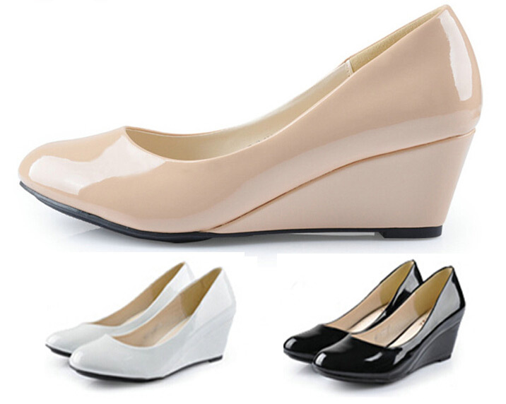 Nude Wedge Shoes 120