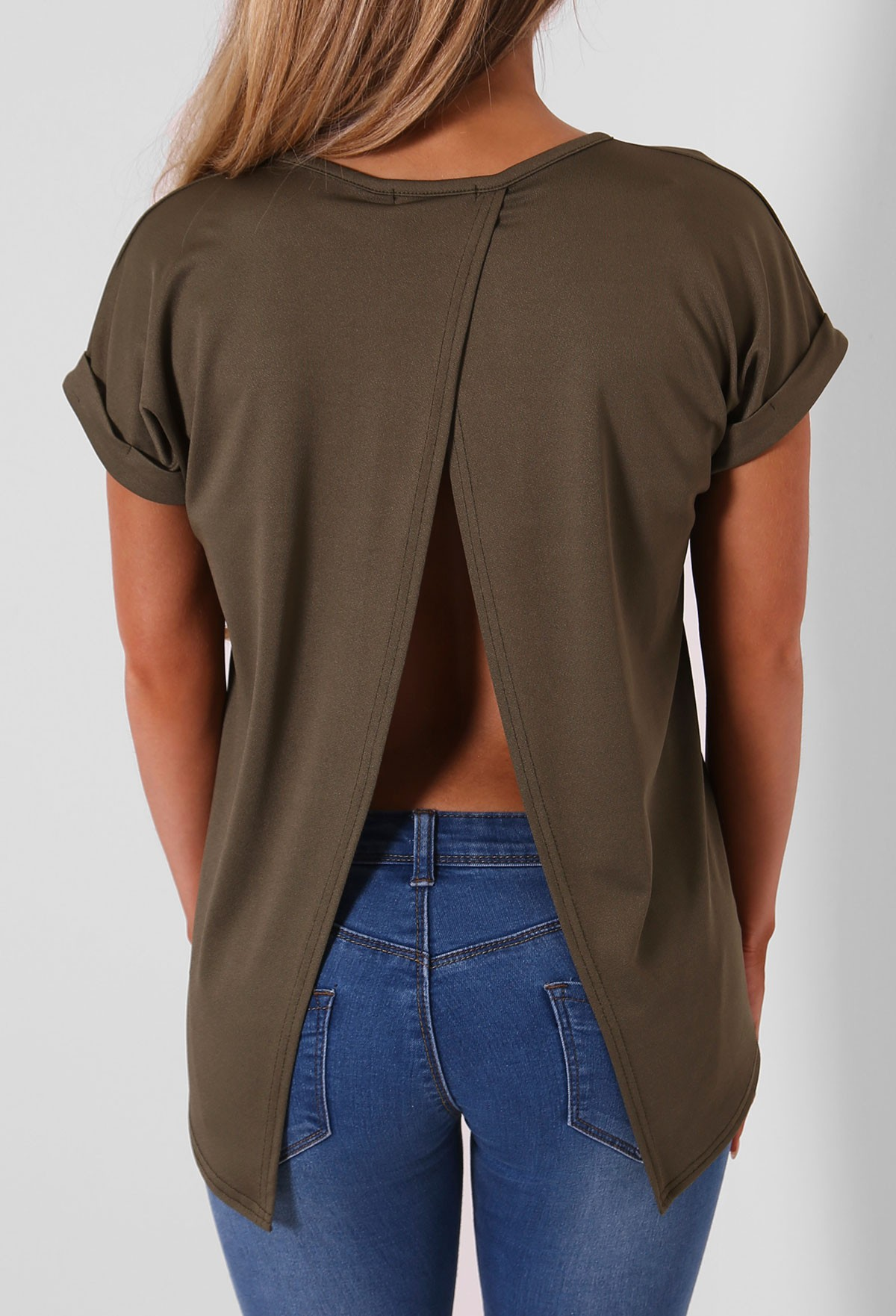 Open Back Tops. Clothing. Women. Open Back Tops. Showing 48 of results that match your query. Search Product Result. Product - Women's Shine Open Back Tank. Clearance. Product - KOGMO Womens Solid Short Sleeve Tunic Top with Open Back .