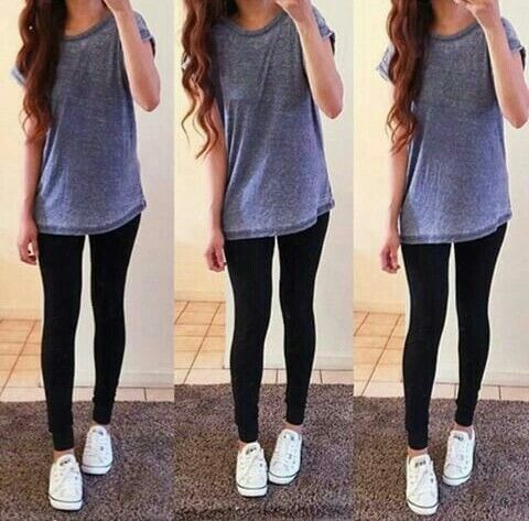 Find and save ideas about Cute legging outfits on Pinterest. | See more ideas about Leggings outfit winter, Comfy legging outfits and Legging outfits. Women's fashion. Cute legging outfits Cute but simple ivory Ella outfit, with black and white nike sneakers 🙈.