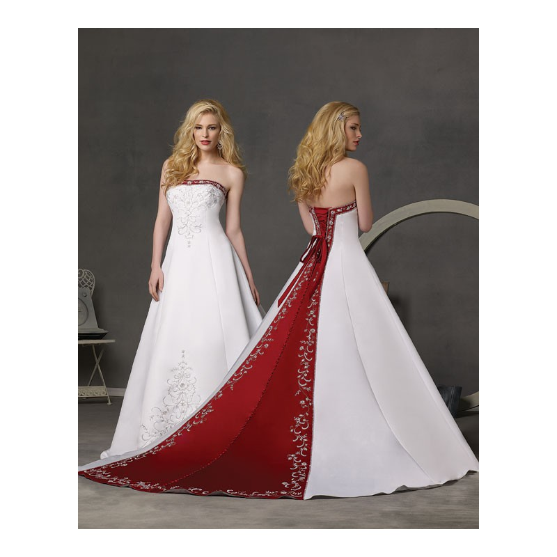 Red and White Wedding Party Dresses