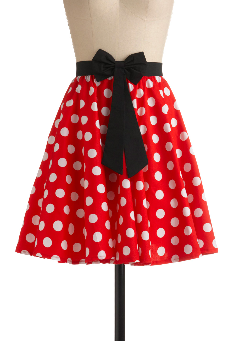 Red And White Skirt - Dress Ala
