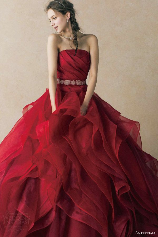 Red wedding dress stray off the mainstream path carey fashion junglespirit Images