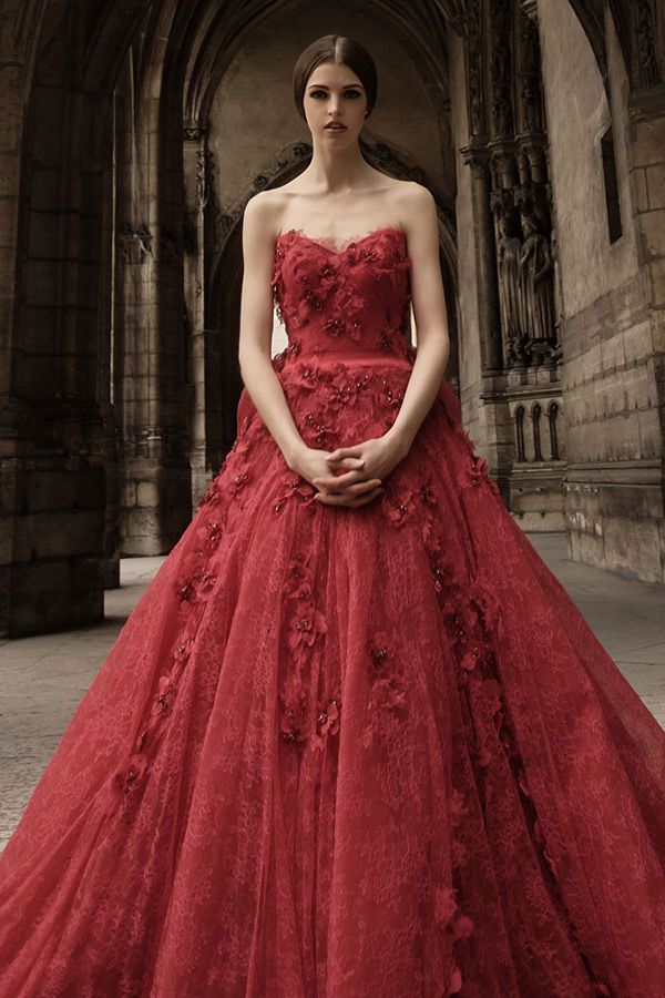 Red Wedding Dress Stray Off The Mainstream Path Carey Fashion