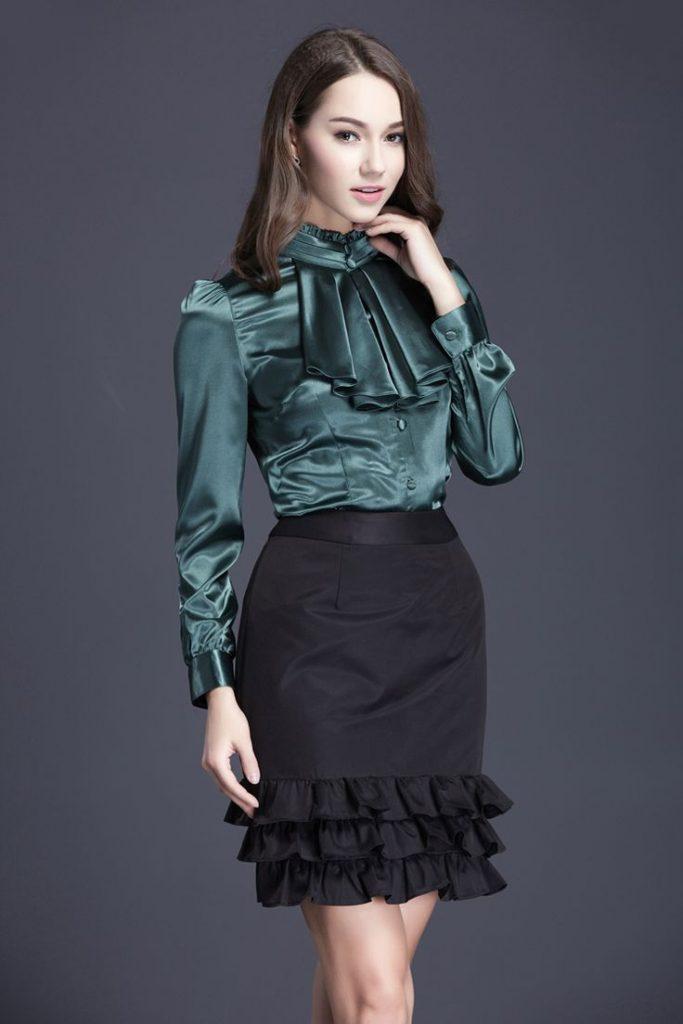 satin blouse – 1 – Carey Fashion