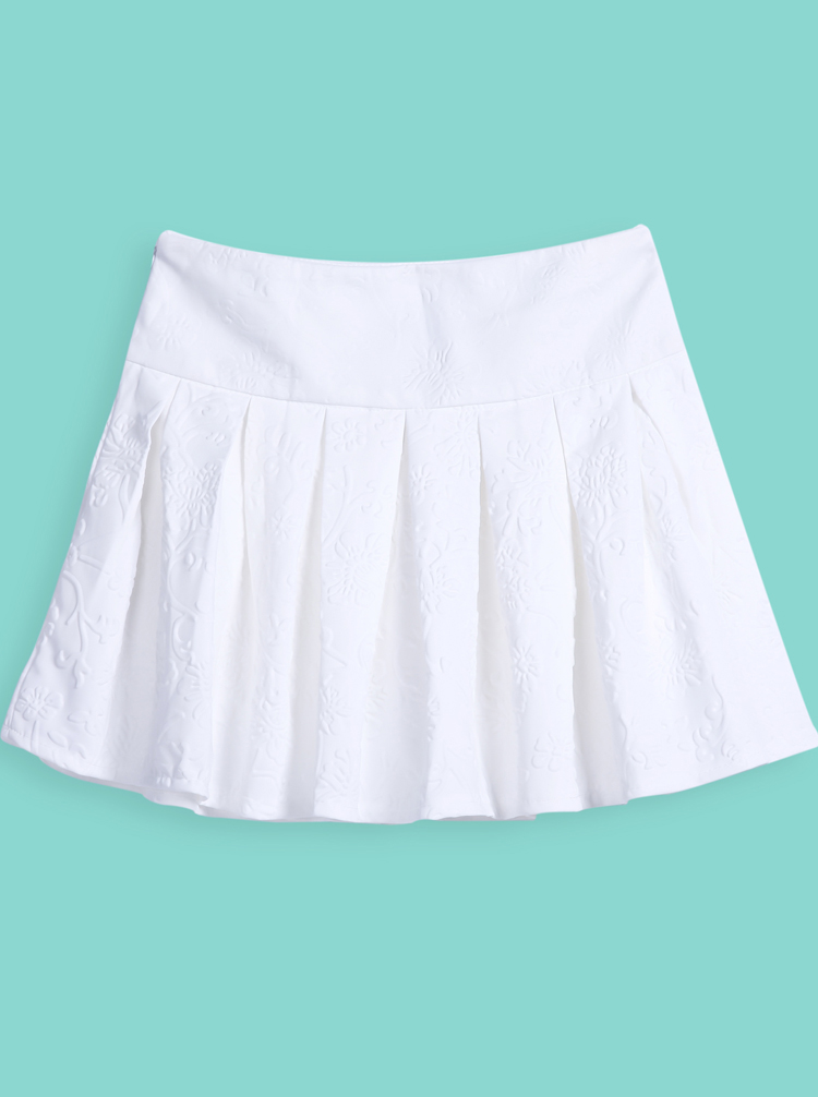 What to Wear with A White Pleated Skirt – Carey Fashion