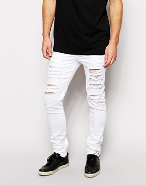 white jeans for men - Jean Yu Beauty