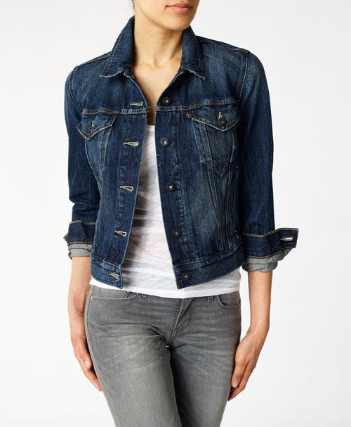 Images of Womens Denim Blazer - Reikian