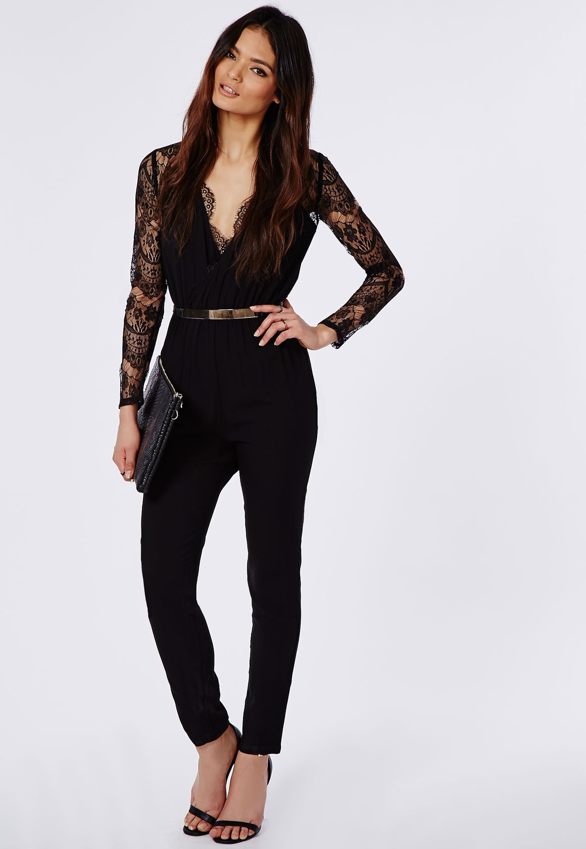 How to Wear Black Lace Jumpsuit – careyfashion.com