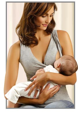 Woman breast feeding woman