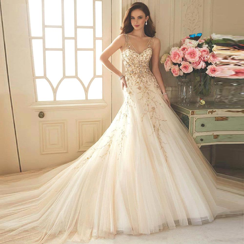 Champagne wedding dresses all the styles you need for Champagne color wedding dresses