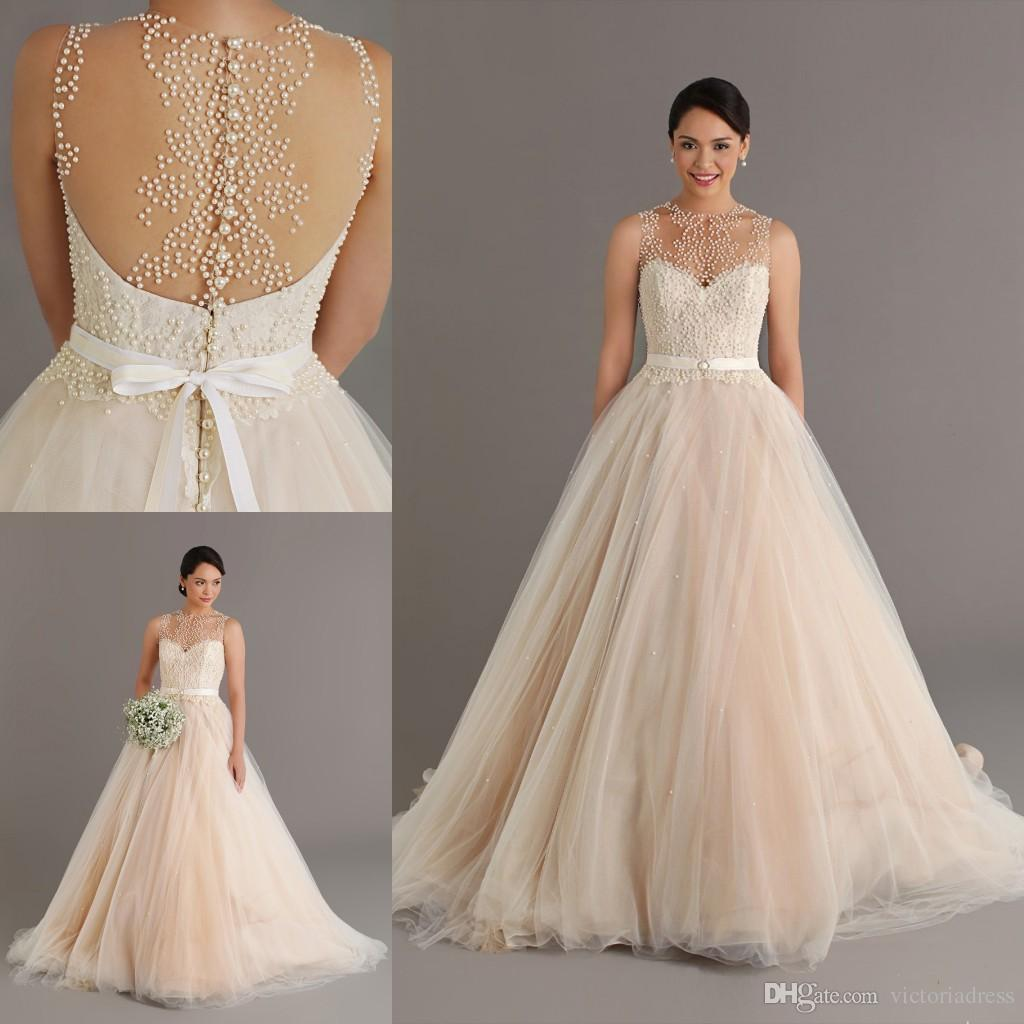 champagne wedding dress vs red bridesmaid dresses. dressystar v ...