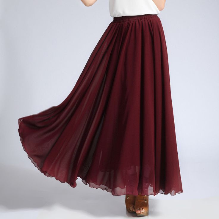 6d7b0224ce44c How to Elegantly Wear A Chiffon Skirt – careyfashion.com