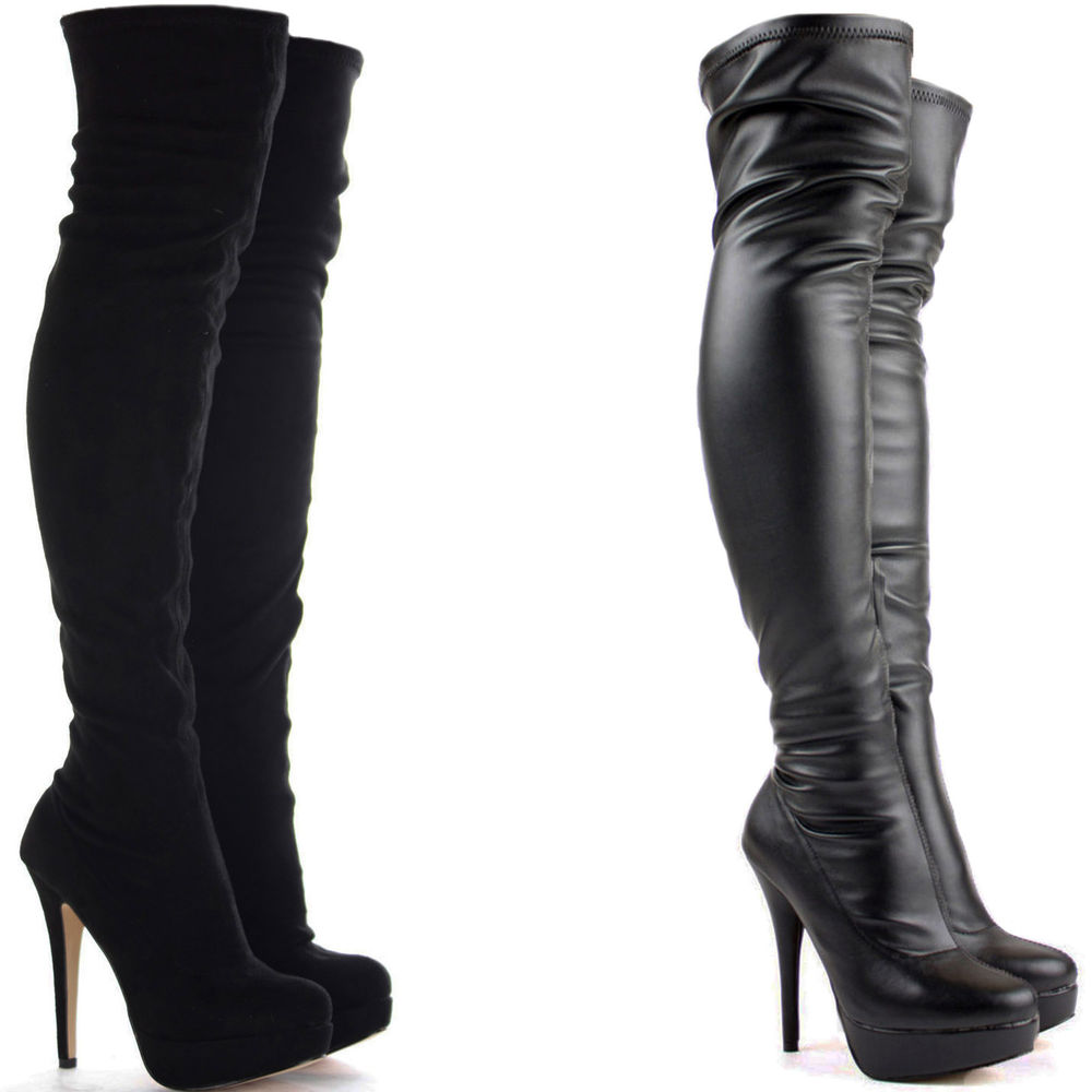 knee high heel boots the sexiest ways to wear them. Black Bedroom Furniture Sets. Home Design Ideas