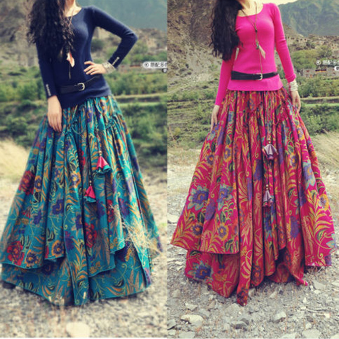 How to Wear Long Skirts with Different Tops – careyfashion.com