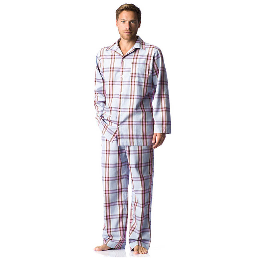 However gorgeous a man may be, put him into a pair of pyjamas and his oomph factor plummets to below zero. Just picture the scene. He's gorgeous, you're mad for him and it's time to slip into.