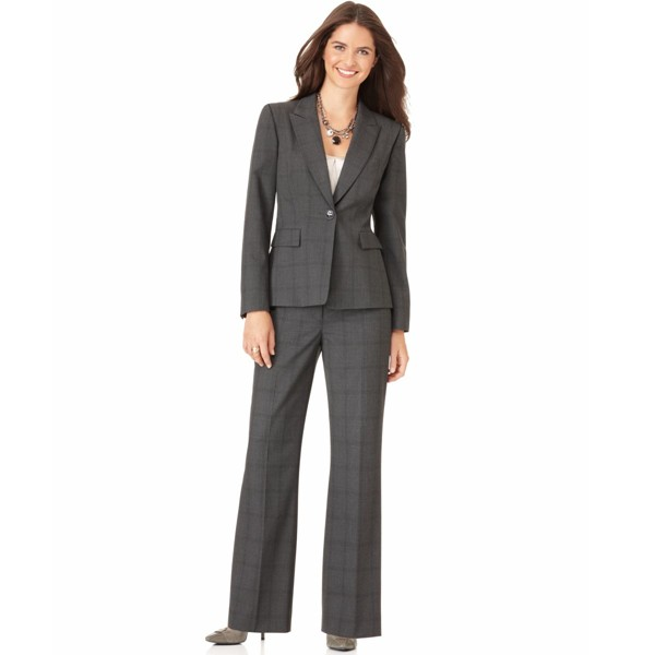 Perfect  Ladies Pant Suits Woman Formal Suit Wear Set Blazer With PantsChina