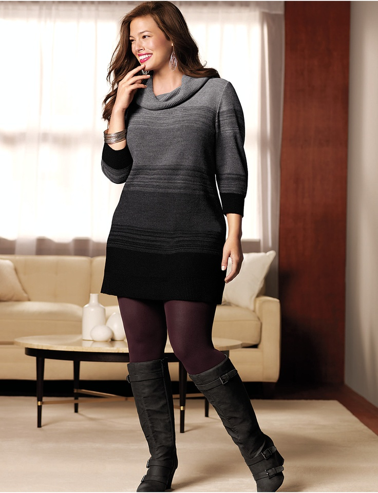 Plus Size Sweater Dress Careyfashion
