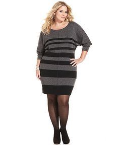 How to Wear A Plus Size Sweater Dress – careyfashion.com