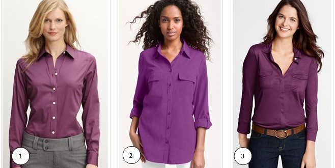 What To Wear With A Purple Blouse 31