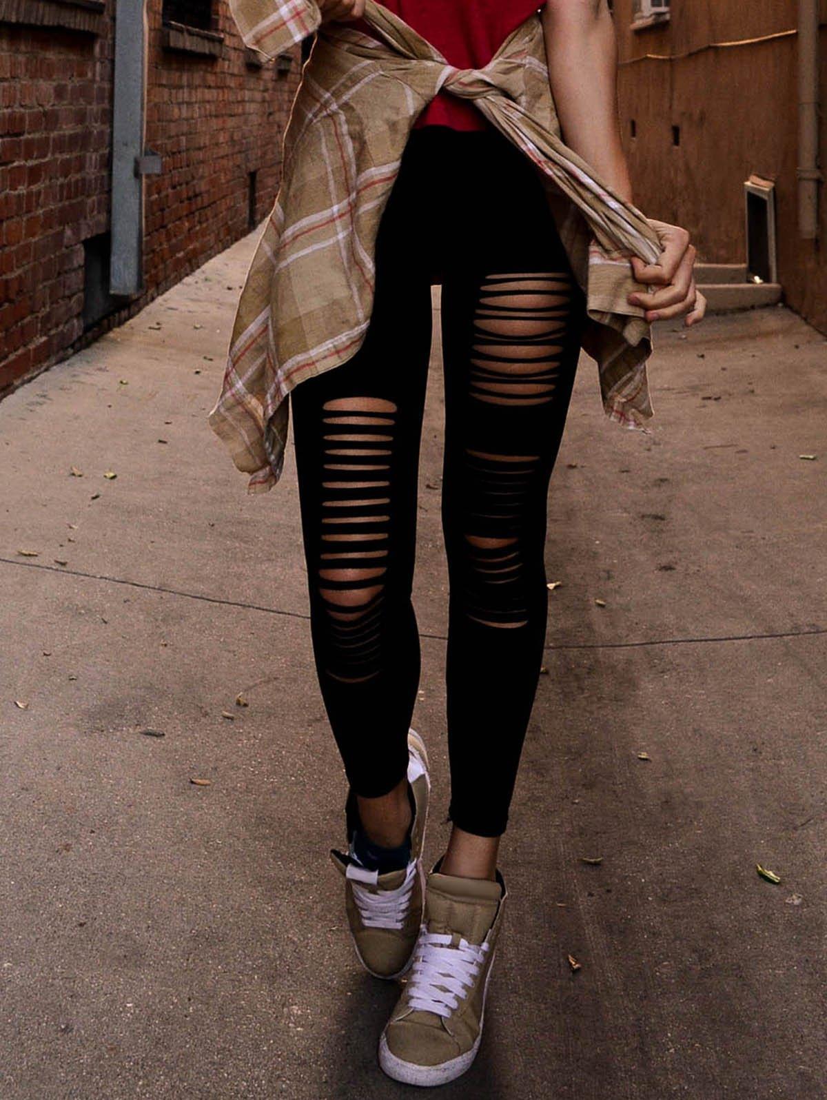 How to Elegantly Wear Ripped Leggings u2013 careyfashion.com