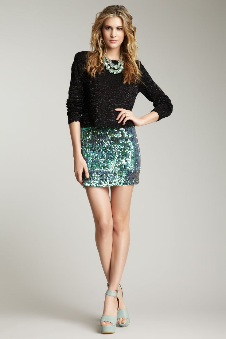 Sequin Skirt Outfits - Skirts