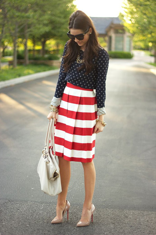 Which Tops to Pair with Striped Skirt – careyfashion.com