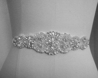 Wedding dress belts 6 for Wedding dress bling belts