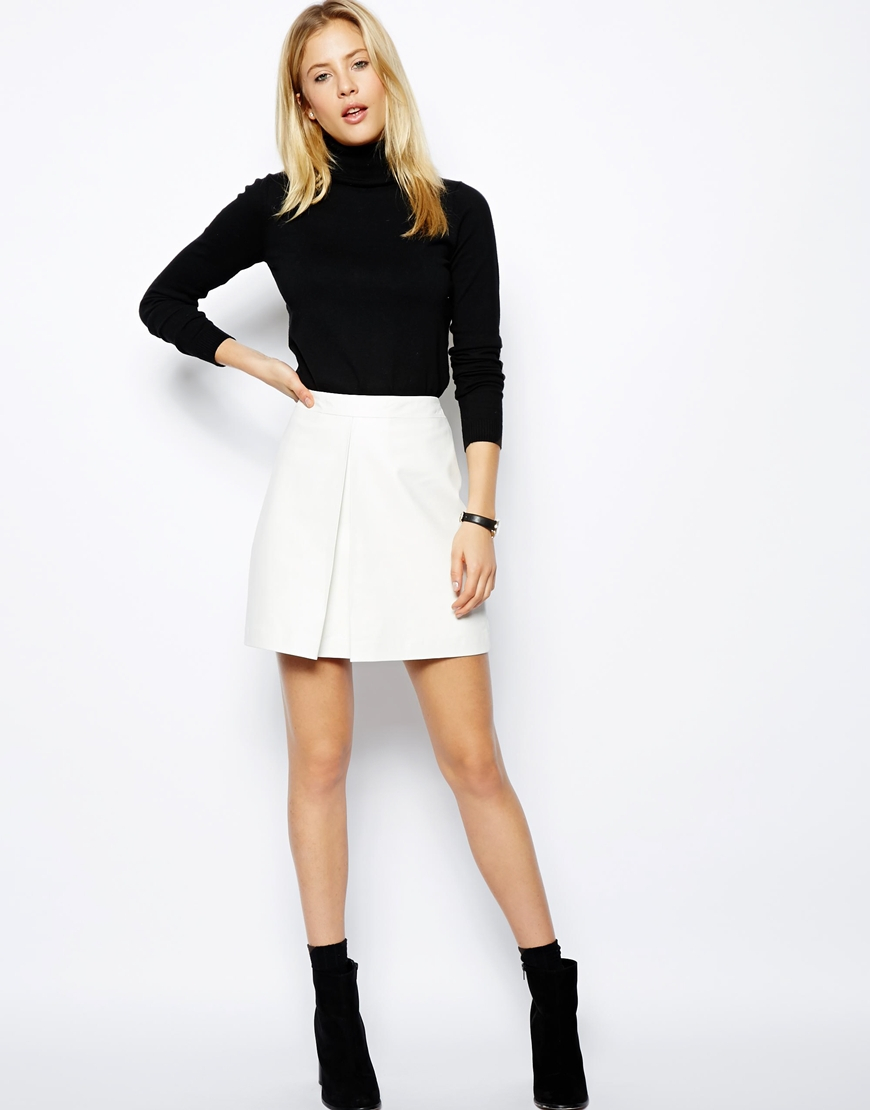 white leather skirt fit for summer or nah