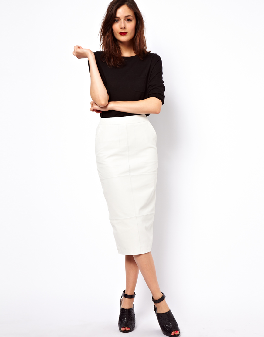 White Leather Skirt – Fit for Summer or Nah? – careyfashion.com