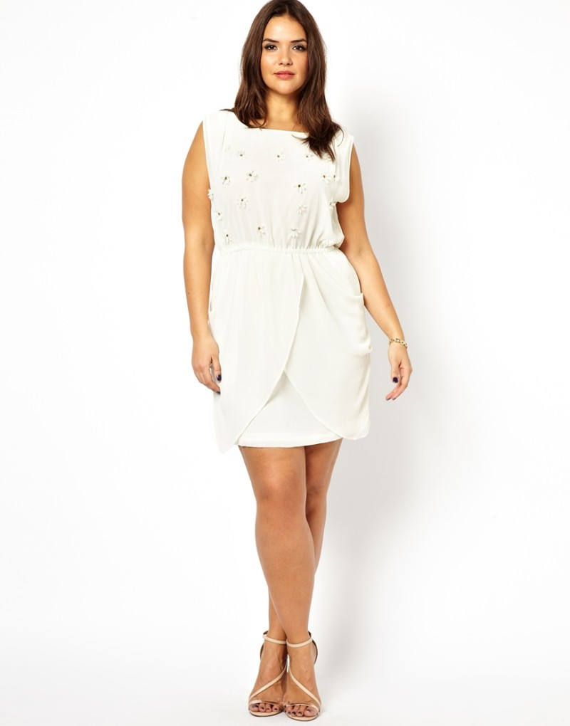how to accesorize white plus size dresses – careyfashion