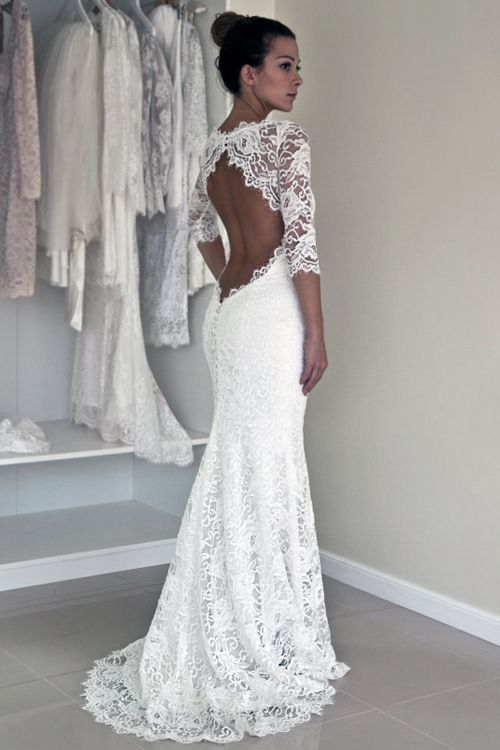 White Wedding Dress Types Of Necklines Careyfashion