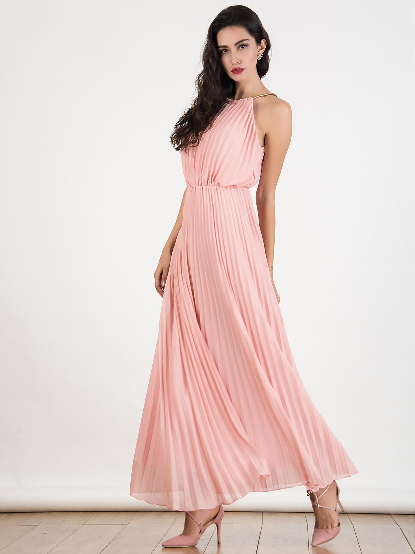 Glamorous Chiffon Maxi Dress Outfits