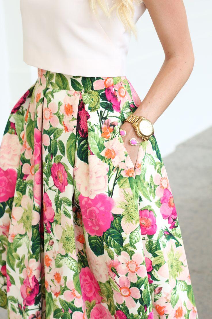 Vintage Floral Skirts Looks