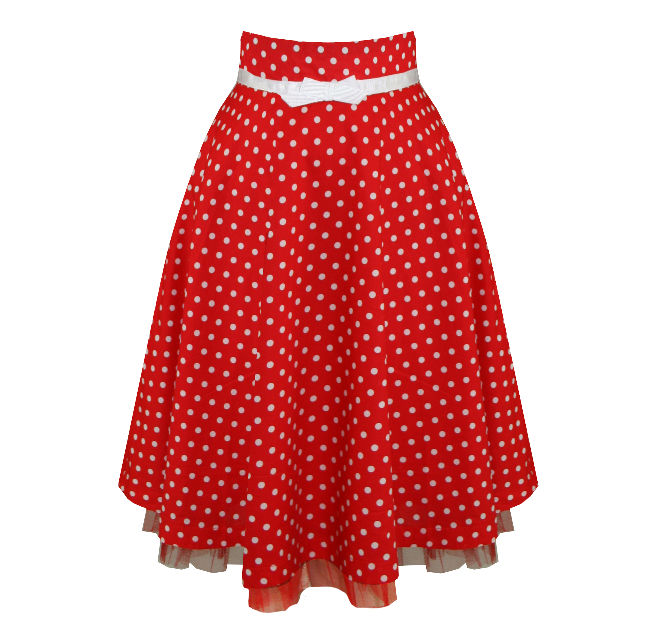 Check Out The Chicest Red Polka Dot Skirt Outfits