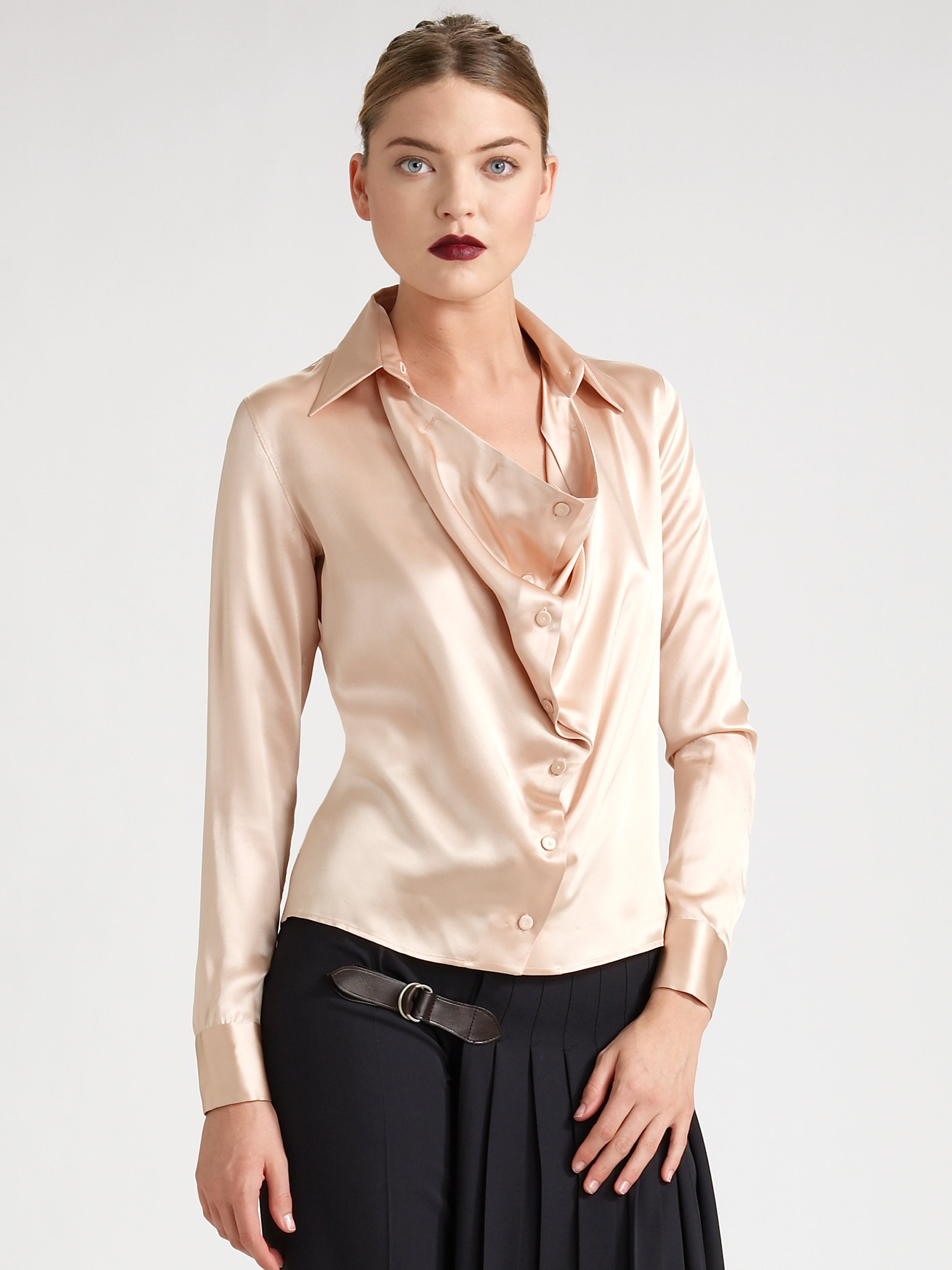 The Finest Silk Blouse Outfits
