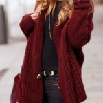 How to Wear A Burgundy Cardigan