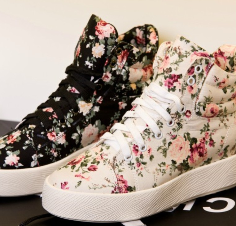 Floral Sneakers – Skirts or Jeans?