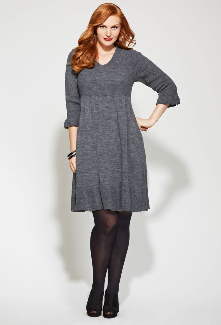 How to Wear A Plus Size Sweater Dress