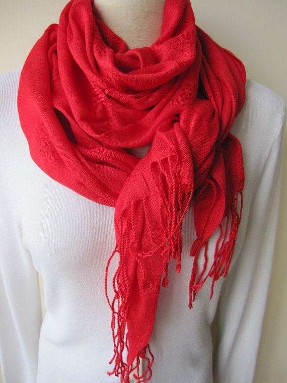 What to Pair With A Red Scarf