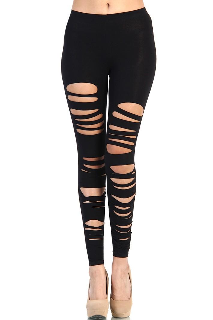 How to Elegantly Wear Ripped Leggings